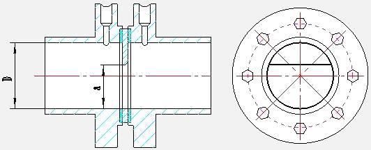 连接方式:焊接,法兰连接,夹持式 五  结构形式 圆缺孔板的外形结构如